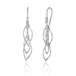 Mondevio Sterling Silver Triple Spiral Lightweight Dangle Drop Earrings
