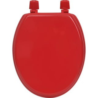 Evideco Oval Toilet Seat Wood Solid Color