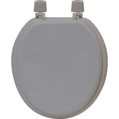 Evideco Round Molded Wood Toilet Seat Solid - 14.25 L x 1.70 W x 15.50 H