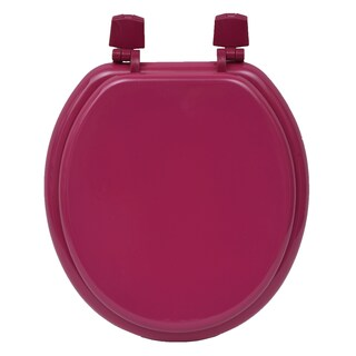 Evideco Round Molded Wood Toilet Seat Solid (Option: Pink)