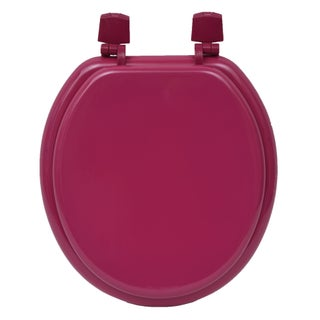Evideco Round Molded Wood Toilet Seat Solid