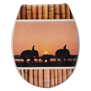 Evideco Duroplast Oval Toilet Seat Elephant Collection The Island