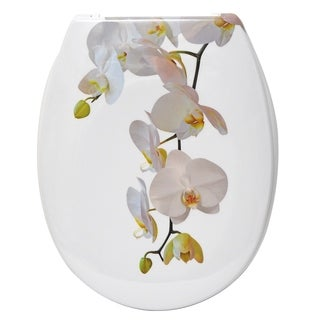 Evideco Duroplast Oval Toilet Seat Orchid Collection Purity