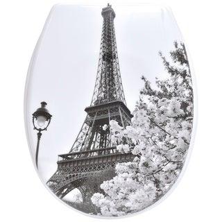 Evideco Duroplast Oval Toilet Seat Eiffel Tower Paris City
