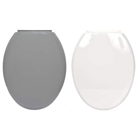 Evideco Slow-Close Easy Release Oval Toilet Seat - 14.20 L x 2 W x 17 H