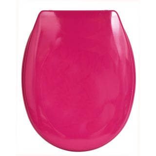 Evideco Slow-Close Quiet Oval Toilet Seat Solid (Option: Pink)