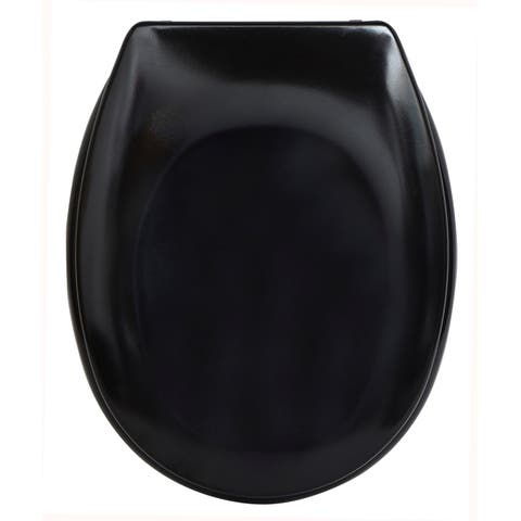 Evideco Slow-Close Quiet Oval Toilet Seat Solid