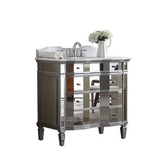 Modetti Palazzo 36-inch Single Sink Bathroom Vanity with Marble Top