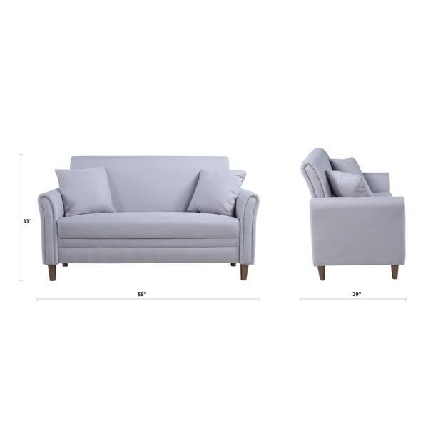 Strange Shop Modern Two Tone Loveseat Sofa Two Seater Linen Inzonedesignstudio Interior Chair Design Inzonedesignstudiocom