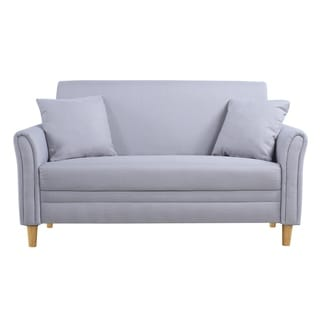 linenwood twotone small twoseater loveseat
