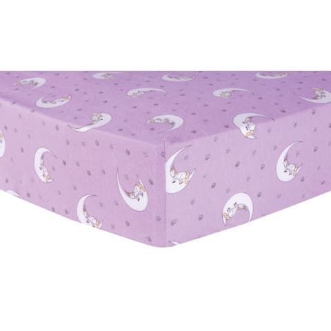 Trend Lab Unicorn Moon Deluxe Flannel Fitted Crib Sheet