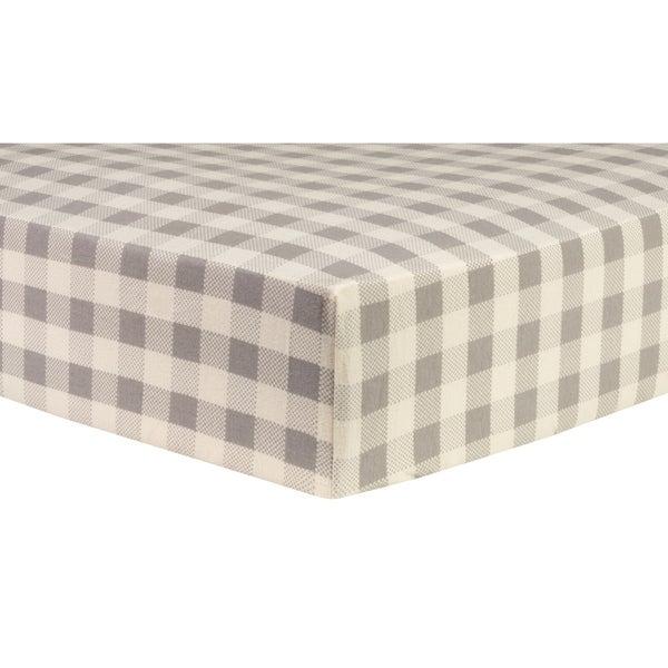 Shop Trend Lab Gray And Cream Buffalo Check Deluxe Flannel