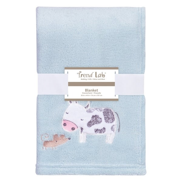Trend Lab Farm Stack Plush Baby Blanket