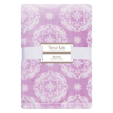 Trend Lab Lavendula Medallion Plush Baby Blanket