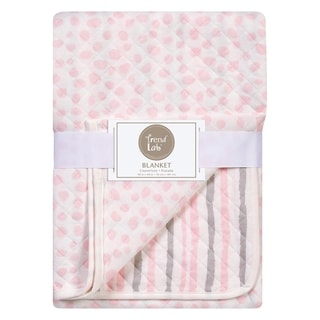 Link to Trend Lab Pink and Gray Cloud Knit Blanket Similar Items in Baby Blankets