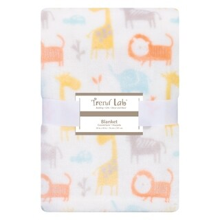 Trend Lab Crayon Jungle Plush Baby Blanket