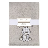 Trend Lab Gray Bunny Plush Baby Blanket