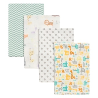 Link to Trend Lab Mint Jungle 4 Pack Flannel Blankets Similar Items in Baby Blankets