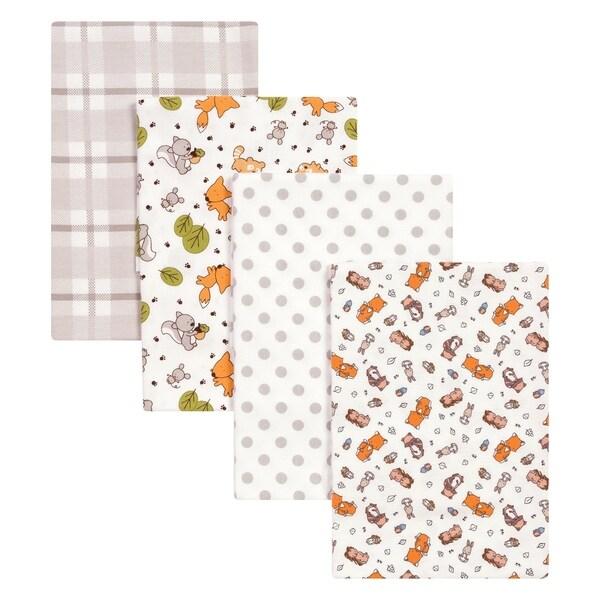 Trend Lab Wild Bunch 4 Pack Flannel Blankets