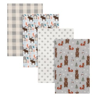 Trend Lab Scandi Cocoa 4 Pack Flannel Blankets