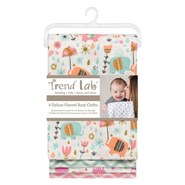 3 Pack Multi Trend Lab 100/% Cotton Scandi Jumbo Burp Cloth Set