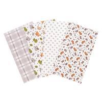 Trend Lab Wild Bunch 4 Pack Flannel Burp Cloth Set