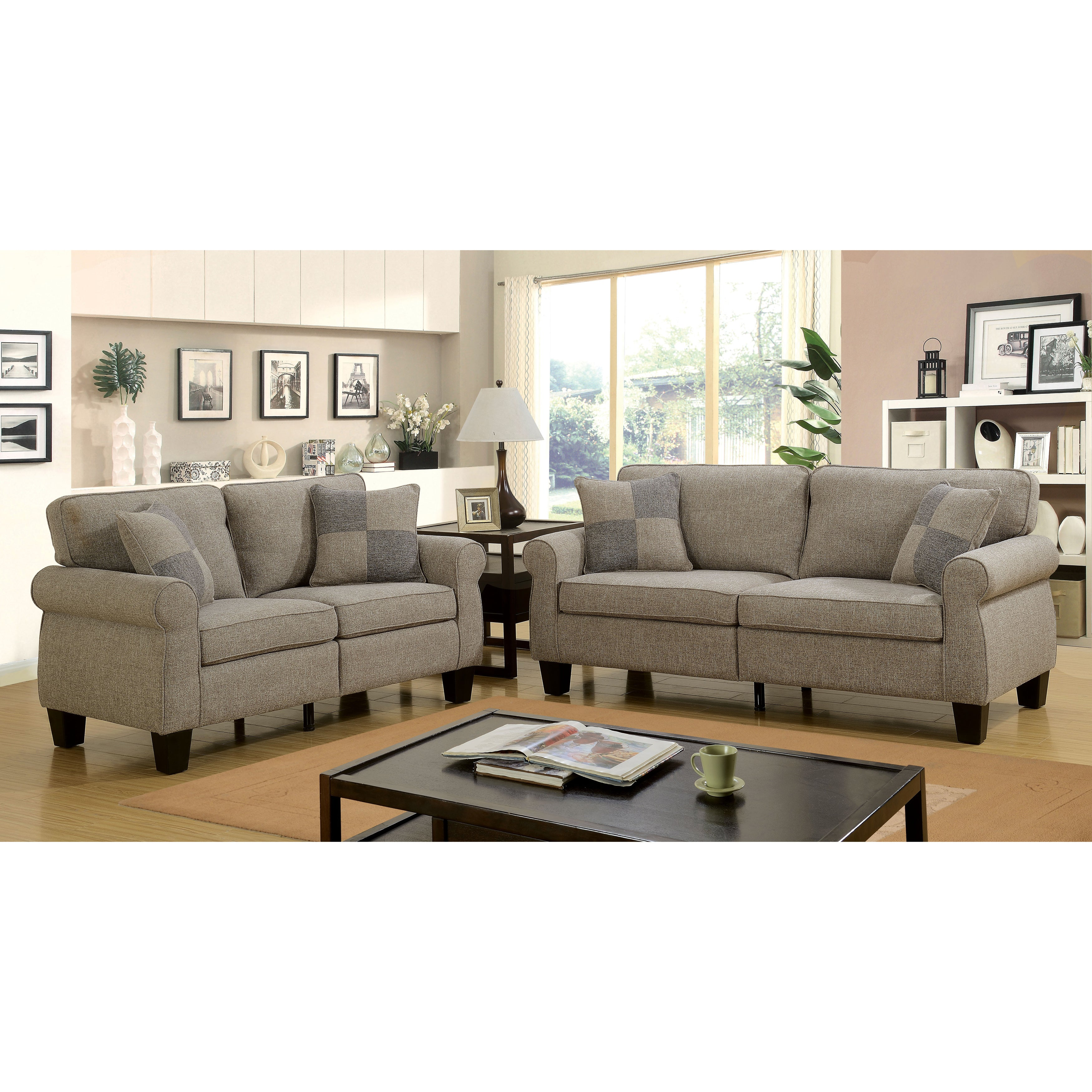 Herena Contemporary 2-Piece Sofa Set by FOA