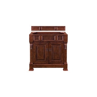 """Brookfield 36"""" Warm Cherry Single Vanity with or without Drawers"""