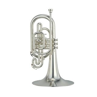 Yamaha YMP204MS Marching Mellophone - Silver-Plated Finish