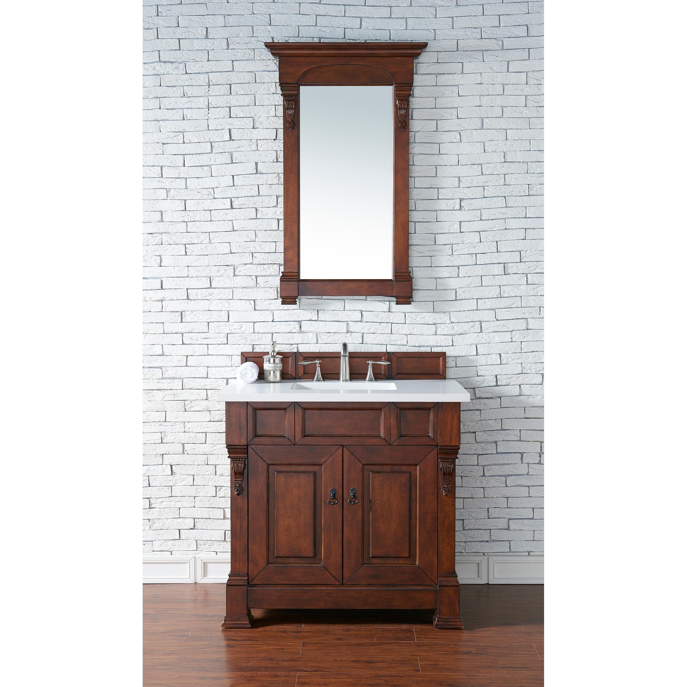"James Martin Furniture Brookfield 36"" Warm Cherry Single ..."