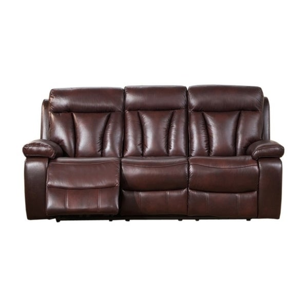 Sofa Sale Express Delivery: Shop Kathleen Leather Power Sofa Recliner