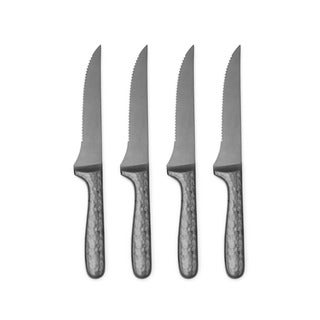 Cambridge Silversmiths Nero Black/Grey Pvd 4 Piece Steak Knife Set
