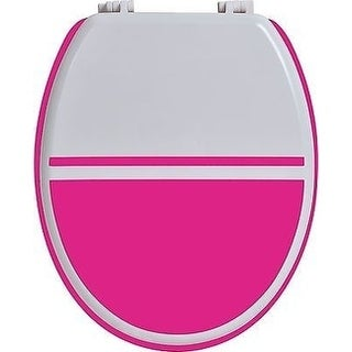 Evideco Two-colored Oval Toilet Seat Wood (Option: Pink)