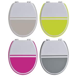 Evideco Two-colored Oval Toilet Seat Wood|https://ak1.ostkcdn.com/images/products/17524016/P23749044.jpg?impolicy=medium