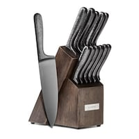 shop chicago cutlery 15 piece knife block set on sale free