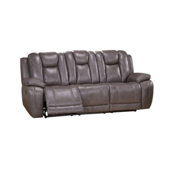 Leather Sectional Sofa With 3 Power Recliners: Shop Withia Leather Power Sofa Recliner