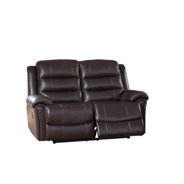Shop Brookville Leather Loveseat Recliner