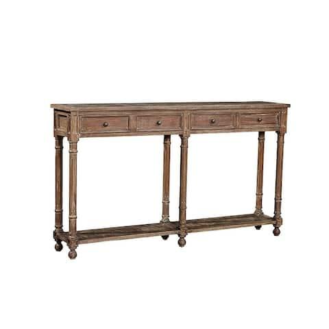 Aurelia Narrow Wood Console Table