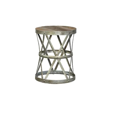 Titus Metal Basket End Table