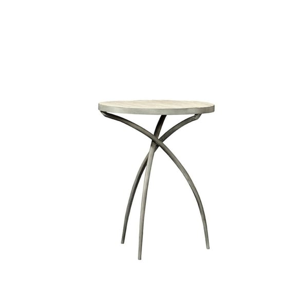 Keverne Iron and Wood Side Table