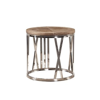 Common Home Tatian Stainless Steel Numeral Detailed End Table
