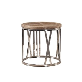 Tatian End Table with Stainless Steel Numeral Detailing