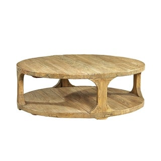Common Home Rembert Reclaimed Elm Round 2-tiered Coffee Table