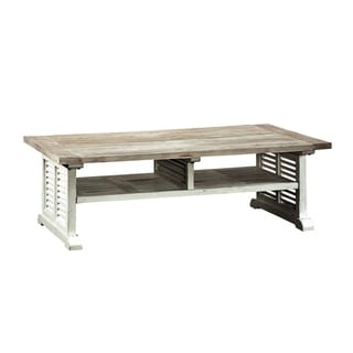 Common Home Howell White Wood Coffee Table