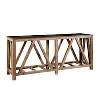 Rainer Open-Sided Console Table with Bluestone Top