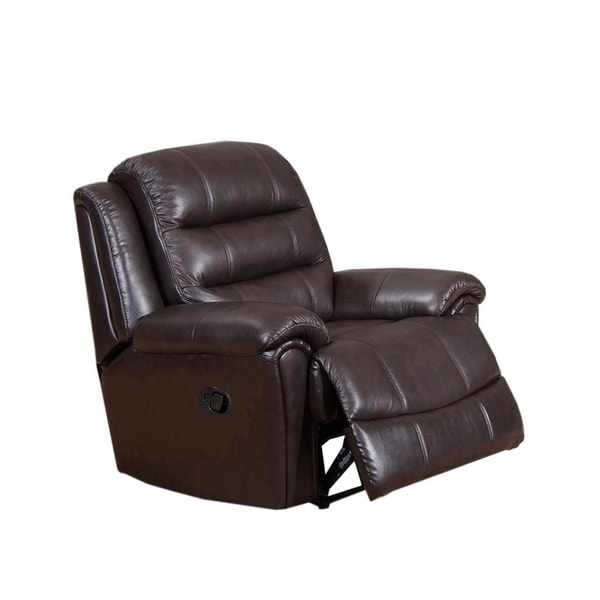 Shop Brookville Leather Recliner Free Shipping Today