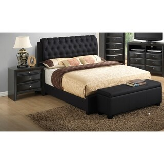LYKE Home Stella Button Tufted Queen Bed