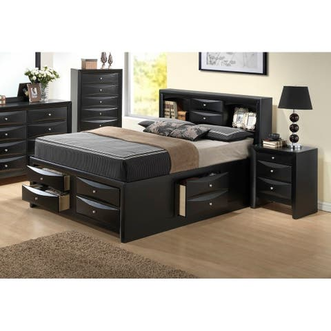 LYKE Home Grayson Bookcase Queen Storage Bed