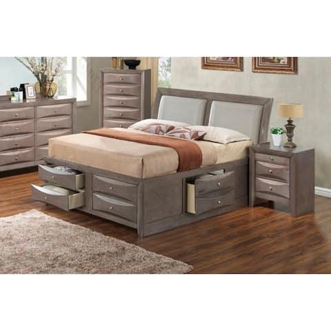 LYKE Home Nora King Six Drawer Storage Bed
