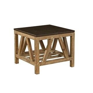 Cyprian Reclaimed Fir And Bluestone Side Table